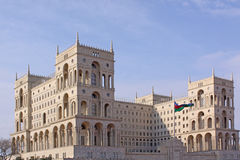 Azerbaijan. Baku. Veiw of city streets. Administrative building Royalty Free Stock Photo