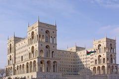 azerbaijan baku Veiw van stadsstraten De administratieve bouw Royalty-vrije Stock Foto