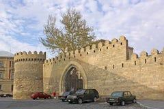 azerbaijan baku Veiw von Stadtstraßen Alte Stadt Lizenzfreie Stockfotos