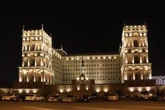 azerbaijan baku Veiw von Stadtstraßen Verwaltungsgebäude Lizenzfreie Stockbilder