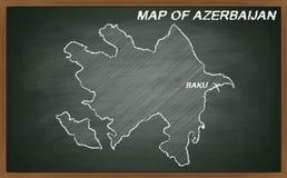 Azerbaijan on blackboard Royalty Free Stock Image