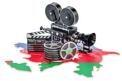 Azerbaijan cinematography, film industry concept. 3D. Rendering isolated on white background Stock Photo