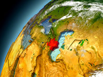 Azerbaijan de la órbita de Earth modelo Imagen de archivo