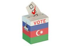 Azerbaijan election ballot box for collecting votes Stock Image