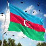 azerbaijan flagę Zdjęcia Royalty Free