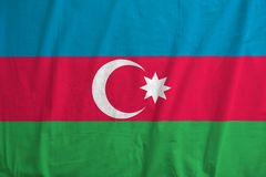 azerbaijan flagę Fotografia Stock