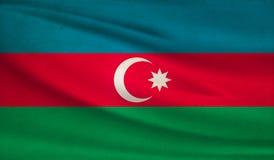 azerbaijan flagę Zdjęcia Stock