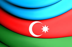 azerbaijan flagę Obrazy Royalty Free