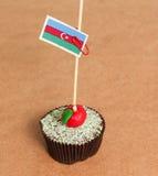 Azerbaijan flag on a apple cupcake Royalty Free Stock Photos