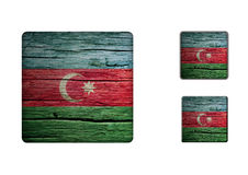 Azerbaijan Flag Buttons Stock Photos