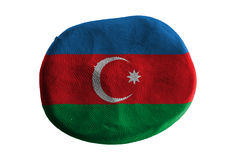 Azerbaijan flag,clay Royalty Free Stock Images