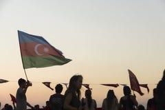 Azerbaijan flag. Royalty Free Stock Photo