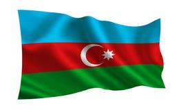 Azerbaijan flag. A series of `Flags of the world.`    The country - Azerbaijan flag. Azerbaijan flag. A series of `Flags of the world.`   The country Stock Image