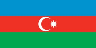 azerbaijan flaga Fotografia Royalty Free