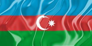 azerbaijan flagga stock illustrationer