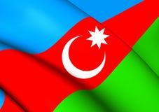 azerbaijan flagga royaltyfri illustrationer