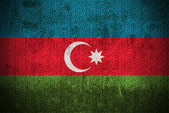 azerbaijan flaggagrunge stock illustrationer