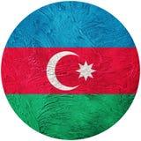 azerbaijan flaggagrunge Azerbajdzjan knappflagga som isoleras på vit vektor illustrationer