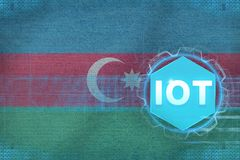 Azerbaijan IOT (Internet of things). IOT modern concept. Royalty Free Stock Photo
