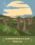 Azerbaijan landmarks. Retro styled image Royalty Free Stock Photography