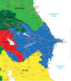 Azerbaijan map Royalty Free Stock Image