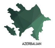 Azerbaijan map illustrated Royalty Free Stock Images