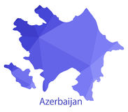 Azerbaijan map illustrated Stock Image
