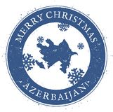 Azerbaijan map. Vintage Merry Christmas. Azerbaijan map. Vintage Merry Christmas Azerbaijan Stamp. Stylised rubber stamp with county map and Merry Christmas Stock Image