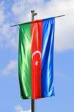 Azerbaijan-Markierungsfahne Stockbilder
