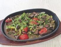 Azerbaijan meat dish Stock Image