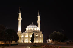 Azerbaijan. Mosque in Baku at night. Stock Image