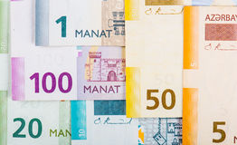 Azerbaijan national currency stock image
