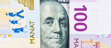 Azerbaijan national currency devaluation Stock Photos