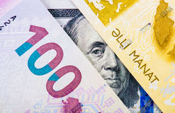 Azerbaijan national currency devaluation Royalty Free Stock Images