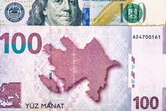 Azerbaijan national currency devaluation. Devaluation of national currency in Azerbaijan Royalty Free Stock Photo