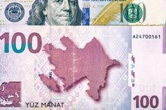 Azerbaijan national currency devaluation Royalty Free Stock Photo