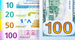 Azerbaijan national currency devaluation Royalty Free Stock Photos