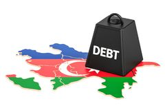 Azerbaijan national debt or budget deficit, financial crisis con. Cept, 3D Royalty Free Stock Images
