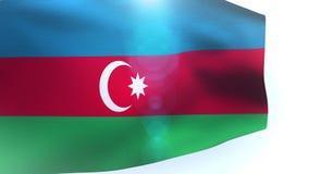 Azerbaijan national flag on white background wave waving. Video stock video footage