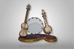 Azerbaijan national musical instruments. Musical Instruments objects. Wallpaper stock photo