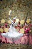 Azerbaijan-nationaler Tanz Stockbilder
