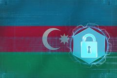 Azerbaijan network protected. Net protection concept. Royalty Free Stock Image