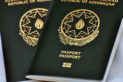 A Azerbaijan passport Stock Image
