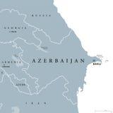 Azerbaijan political map Royalty Free Stock Image