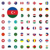Azerbaijan round flag icon. Round World Flags Vector illustration Icons Set. Azerbaijan round flag icon. Round World Flags Vector illustration Icons Set Stock Image
