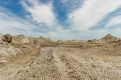 Azerbaijan. The valley of mud volcanoes Royalty Free Stock Image
