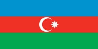 Azerbaijan vlag stock illustratie