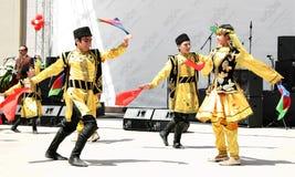 Azerbaijan volksdans royalty-vrije stock fotografie