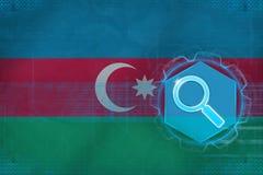 Azerbaijan web search. Net search concept. Stock Image