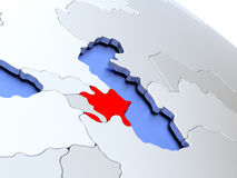Azerbaijan on world map Royalty Free Stock Images